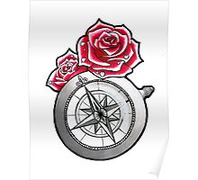 Rose Compass Poster