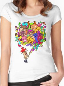 Mushroom Jizz Women's Fitted Scoop T-Shirt