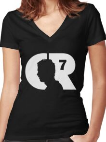 Cristiano Logo Women's Fitted V-Neck T-Shirt