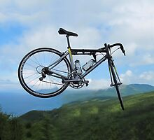 UP UP IN MID AIR A BICYCLE RIDES - BICYCLE PILLOW AND OR TOTE BAG by ✿✿ Bonita ✿✿ ђєℓℓσ