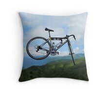 UP UP IN MID AIR A BICYCLE RIDES - BICYCLE PILLOW AND OR TOTE BAG Throw Pillow