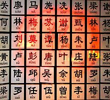 Some Chinese Surnames by jwwallace