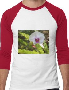Summer Orchid  Men's Baseball ¾ T-Shirt