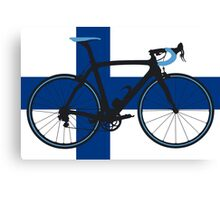 Bike Flag Finland (Big - Highlight) Canvas Print