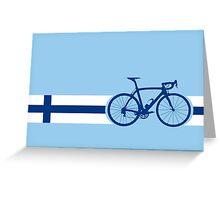 Bike Stripes Finland Greeting Card