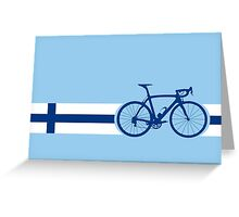 Bike Stripes Finland Greeting Card