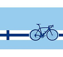 Bike Stripes Finland Photographic Print