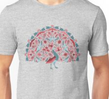 peacock and birds pattern - colorful cheerful illustration Unisex T-Shirt