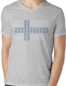 Bike Flag Finland (Small) Mens V-Neck T-Shirt