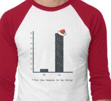 Christmas Carol Math Bar Graph Men's Baseball ¾ T-Shirt