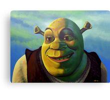 Shrek The Ogre Painting Canvas Print