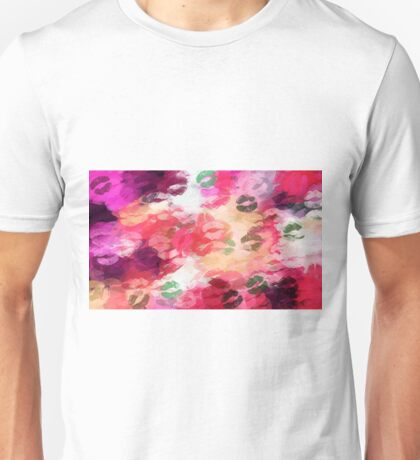 red pink orange and green kisses  Unisex T-Shirt