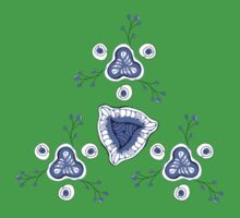 blue abstract pattern Kids Tee