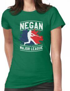 Negan Major League Baseball Lucille Walking Dead Womens Fitted T-Shirt