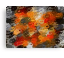 orange black and red kisses Canvas Print