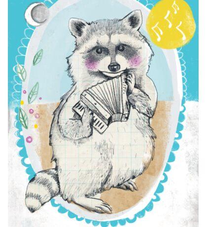 Raccoon Makes a Tune Sticker
