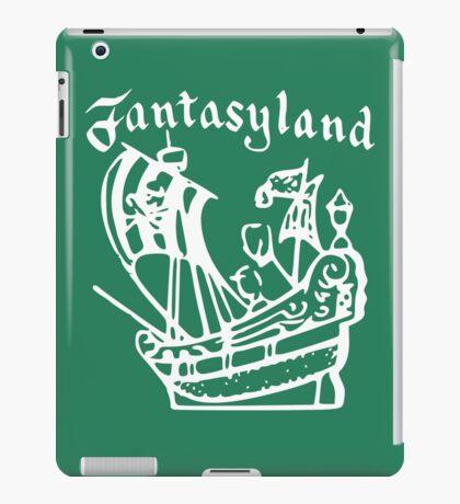 Vintage Stamped Fantasyland Peter Pan white iPad Case/Skin