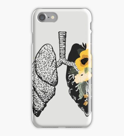 Sing Anatomical Floral Lungs iPhone Case/Skin