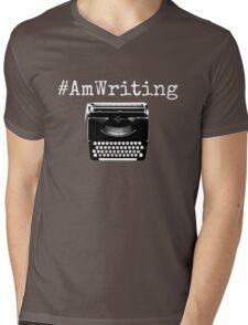 #AmWriting Typewriter Author and Writer Mens V-Neck T-Shirt