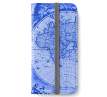 Blue Antique Map iPhone Wallet/Case/Skin