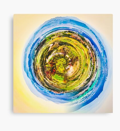 green nature with blue sky  Canvas Print