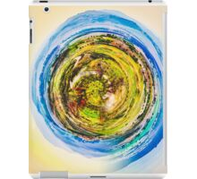 green nature with blue sky  iPad Case/Skin