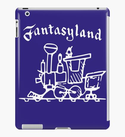 Vintage Stamped Fantasyland Casey Jr white iPad Case/Skin