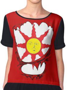3D praise the sun logo Chiffon Top