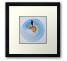 island in the ocean Framed Print