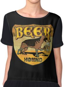 Beer Hound Vintage Style Drinking Shirt Chiffon Top