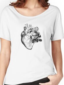 Floral Anatomical Heart Women's Relaxed Fit T-Shirt