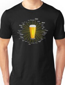 Beer in 45 different languages Unisex T-Shirt