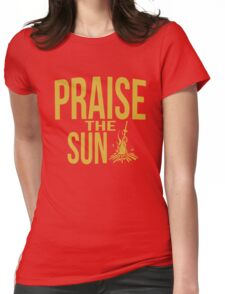 Praise the sun - gold Womens Fitted T-Shirt