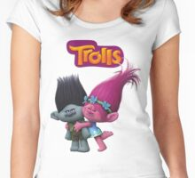 trolls poppy and branch Women's Fitted Scoop T-Shirt