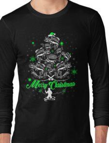 xmas fishing shirt Long Sleeve T-Shirt