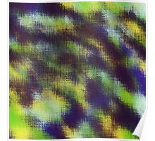 yellow green blue and brown plaid pattern Poster