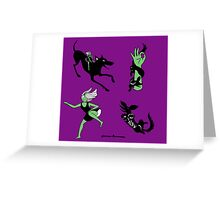 Graffiti babes Greeting Card