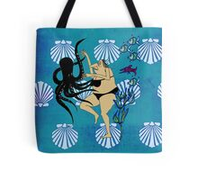 Wrestling with an Octopus Tote Bag