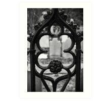 Headstone Gate Art Print