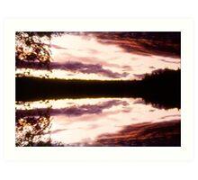 Rorschach's Sunset Art Print