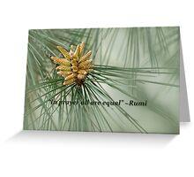 Aleppo pine - a prayer Greeting Card