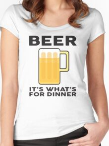 BEER It's what's for Dinner Women's Fitted Scoop T-Shirt