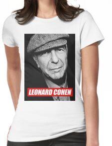 leonard cohen Womens Fitted T-Shirt