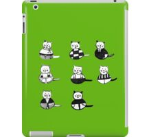 8 different cats in black and white iPad Case/Skin