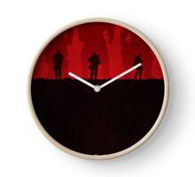 Warriors - Minimal Silhouette Poster Clock