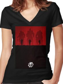 Warriors - Minimal Silhouette Poster Women's Fitted V-Neck T-Shirt
