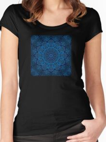 Circuitry Mandala Squared Women's Fitted Scoop T-Shirt