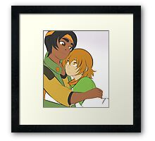 Hunk and Pidge of Voltron Framed Print
