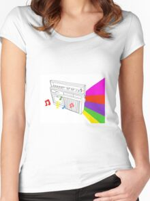 Musical Colour Women's Fitted Scoop T-Shirt