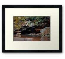 Falling Motion Framed Print